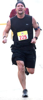 Jeremy Mattingly was the male winner and overall winner at the All Fired Up About Baseball 5K on Saturday. His time was 23 minutes, 12 seconds.