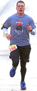 Shawn Woodyard finished fourth in the All Fired Up About Baseball 5K on Saturday. He finished in 24 minutes, 10 seconds.