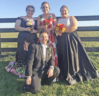 Pictured, from left, are Brianna Meeks, Elise Carpenter, LeeAnn Childers and, in front, Caleb Miller.