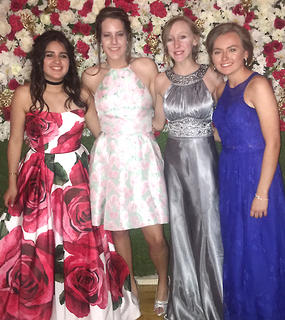 Pictured, from left, are Fernanda Reyes, Jenna Cecil, Gracie Wilson and Brianna Morris.