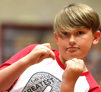 Pictured is fifth grader Jackson Truitt.