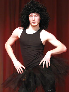 """Nick Kaminski, this year's Junior Mister winner, performs his rendition of """"Flash Dance"""" during the talent portion of the competition."""