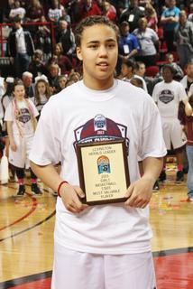 Senior Makayla Epps was selected to the 2013 Sweet 16 All-Tournament Team, and named the Most Valuable Player of the tourney.