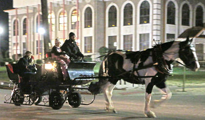 Horse and carriage rides were available for people to enjoy Friday evening.
