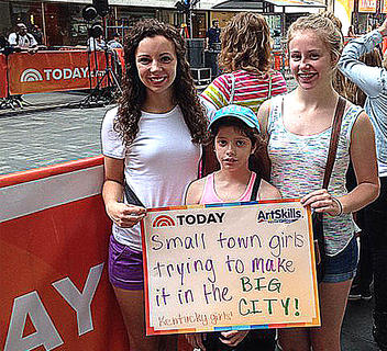 Pictured, from left, are Stephanie Farmer, Jacklyn Farmer and Alice Farmer during a summer vacation to New York City where they visited the set of the Today Show.