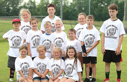 The Marion County High School girls soccer team hosted a summer camp for school-aged children last Monday, Tuesday and Wednesday. Pictured are campers on the final day of camp.