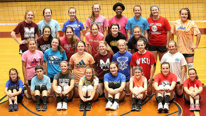 The Marion County High School hosted a volleyball camp for young ladies in grades 3-12 last Monday, Tuesday and Wednesday at Marion County High School. Pictured are campers on the final day of camp.