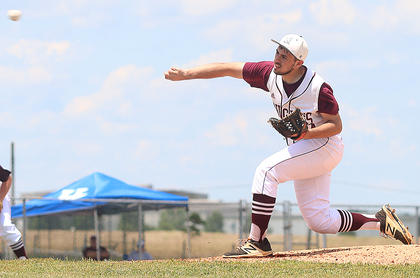 Travis Wiser tosses a pitch against Hart County in the regional tournament.