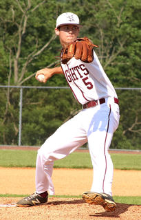Senior Andrew Spalding threw a 4-hit shutout against Bardstown on Tuesday in the semifinal.