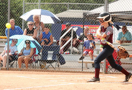 #11: Aubrey Knopp drives in two runs against Russell Flatwoods on July 10.