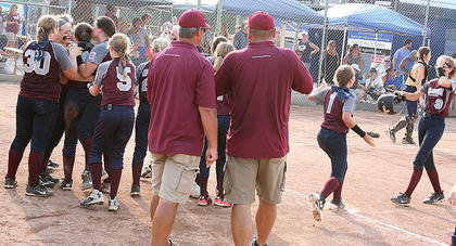 The Marion County 10-12 All-Stars burst into celebration after clinching the state title July 12.