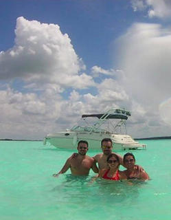The Reyes family enjoy a summer vacation in Mexico. Pictured are Edgar, Kenya, Diego and Fernanda Reyes at Bacalar Lagoon in Mexico.