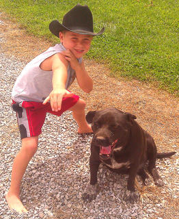 Pictured is Lincoln Smith of Springfield and his dog, Buddy.