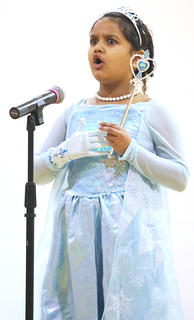 """Aadhya Vyas sings """"Let it Go"""" from the movie """"Frozen."""""""