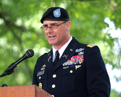 Col. Brian M. Howay was the guest speaker at the Memorial Day Service Sunday afternoon, May 26. He is the chief of staff for the Kentucky National Guard.