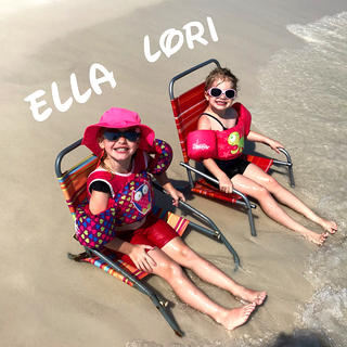 Ella Short and Lori Abell are just chillin' on the beach in Destin, Florida.