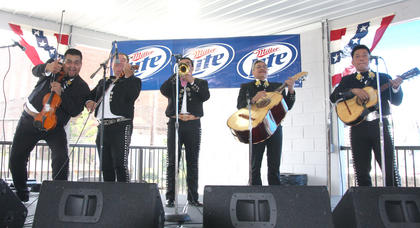 Mariachis band Aguilas de Oro performed Saturday afternoon.