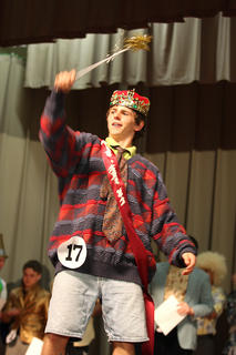 Dalton Mills waves his new wand as the 2011 Junior Mister.