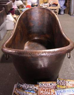 This copper bathtub took 180 hours of work to create, according to Bob Hansen of Pueblo Southwest.