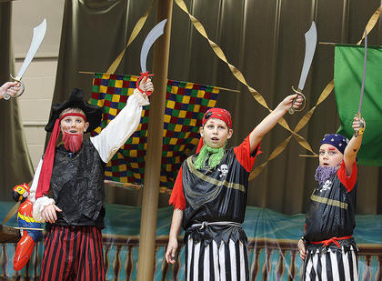 Arrrg! Several CES pirates perform during the musical.