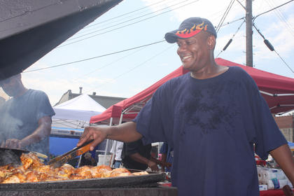 Thomas Johnson of J's BBQ did some cooking during the first Heart of Kentucky Bourbon and BBQ Music Fest in August.