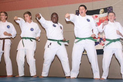 Students from John Cox Martial Arts.