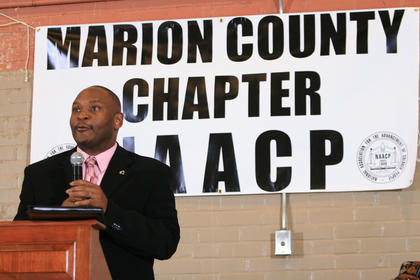 Former Marion County Superintendent Donald Smith was the keynote speaker during the Black History Celebration.