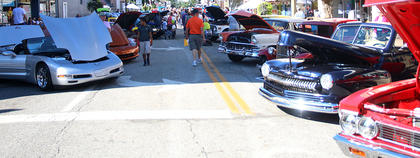 Cars, trucks and motorcycle spanning decades lined downtown Lebanon on Sunday during Ham Days.