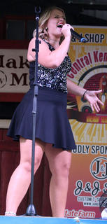 "Ashley Bryant of Louisville performs ""Proud Mary"" by Tina Turner at the Central Kentucky Idol Show at Ham Days on Saturday."