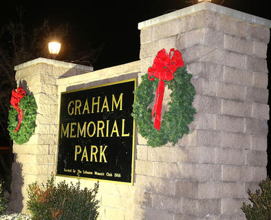 Graham Memorial Park was decorated and lit up for Christmas in the Park on Wednesday. Santa Claus also made his much-anticipated appearance.