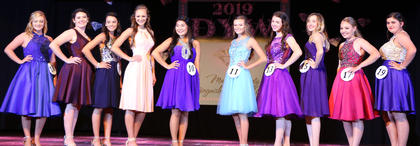 Pictured, from left, are McKinley Patrick, Gillian Mudd, Kelly Miles, Sarah Clark, Mya Emmons, Raley Wright, Alyssa Followay, Makayla Spalding, Miranda Blanford and Morgan Tungate.