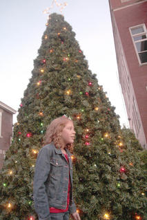 Lauren Ferriell, 10, of Loretto had the honor of lighting the Christmas tree. She is the daughter of Amy and Scott Nally and Charlie Ferriell.