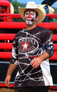 Funny man Austin Stewart had the crowd rolling in laughter during the rodeo's breaks.