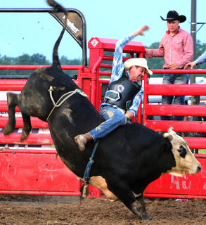 Bull riders traveled to be a part of Wednesday Night's competition.