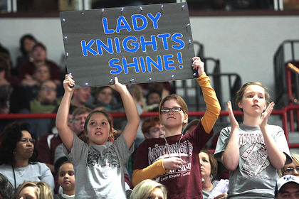 Lady Knights fans are proud of their team.