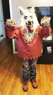 Brittany Browning dressed as a werewolf for Halloween last year.