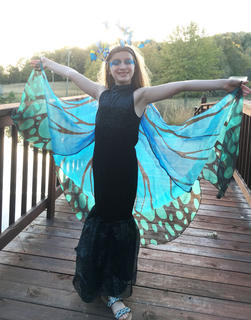 Alice DeAtley, 8, is a butterfly for this year's Halloween festivities.