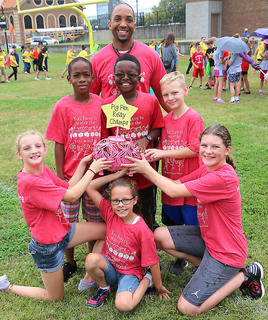 Lebanon Elementary School is this year's Pig Pen Relay champions.