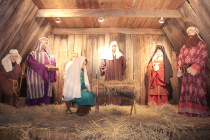 Lebanon United Methodist Church hosted a living nativity in the days leading up to Christmas. Different groups worked in shifts - no matter the weather - to act as a living reminder of birth of Jesus.