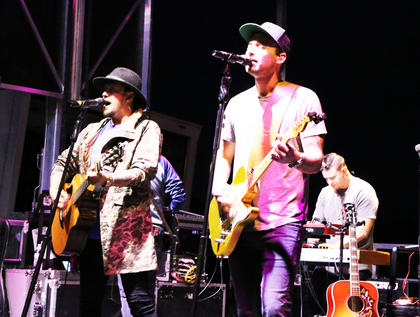 Charlotte based duo, Love & Theft, came to perform at the Friday night concert for Marion County Country Hams, Sept. 28.