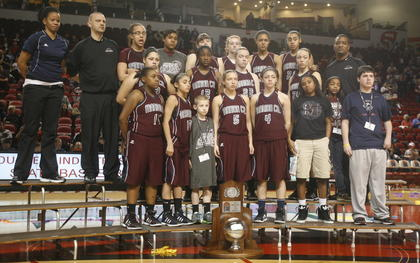 The Marion County Lady Knights finished the season as the state runner-up. They are the first girls basketball team in school history to reach the state finals.