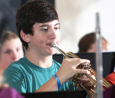 The Marion County middle school band performed at each of the local elementary schools last week. The photos are from their performance Oct. 28 at West Marion Elementary School.