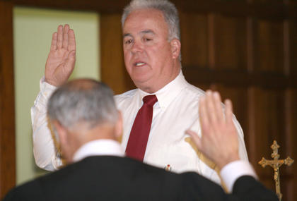 Terry Mills held a ceremonial swearing in at St. Joe Catholic Church after winning a special election in February to become the new 24th District state representative. He won re-election in November.