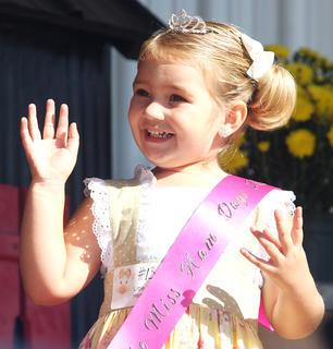 Participant No. 13, Raini Sidebottom, was crowned Little Miss Ham Days. She's the daughter of Derek and Nickie Sidebottom.