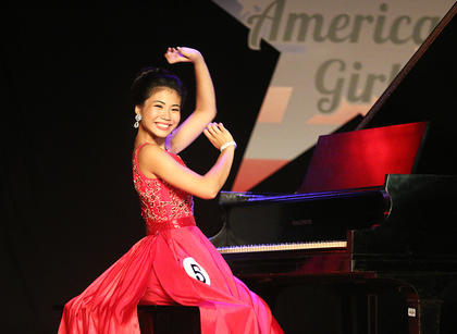 Sophie Clark won a talent award for her piano performance, a self-expression award and the overall scholastic award.