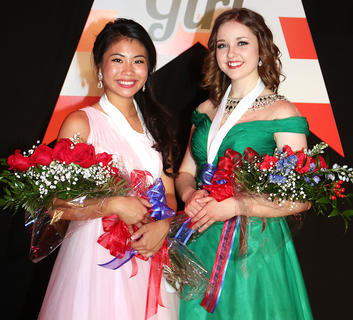 Sophie Clark is pictured with Adria Whitfill, the 2016 Marion County Distinguished Young Woman.