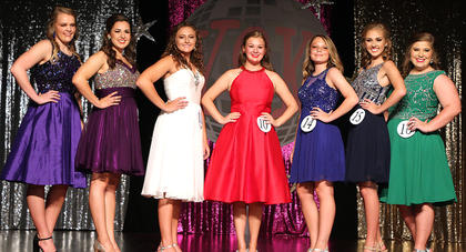 Pictured are the 'NSYNC' Girls. They are, from left, Hannah Shoemake, Harmony Lanham, Elizabeth Hughes, Jane Palagi, Riley Wayland, Caroline Piekarski and Tatum Riggs.