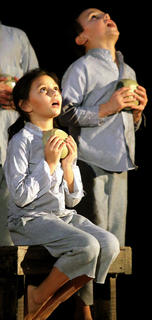 Gabriella Brown and Noah Knopp play malnourished orphans in the musical.