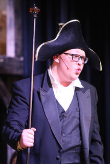 Clayton Tungate plays the part of Mr. Bumble.