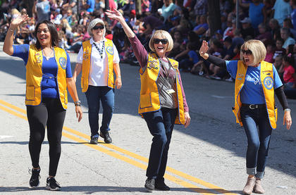 Pictured are members of the Lebanon Lions Club. They are, from left, Autria Calhoun, Mary Parrott, Roberta Lewis and Kathy Browning.